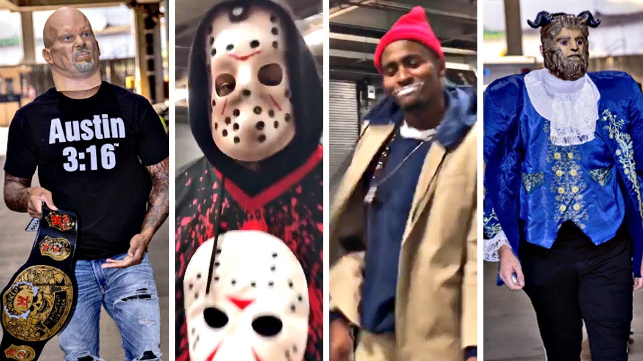 Trail Blazers Players Arrive To Game Dressed In Halloween Costumes