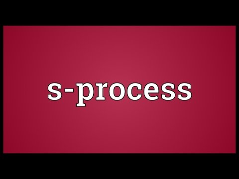 S-process Meaning