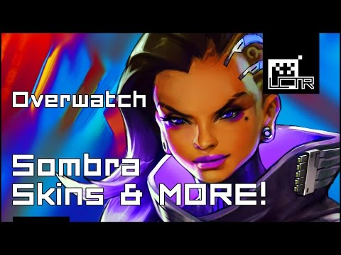 Overwatch: *ALL* Sombra Skins, Emotes, Highlight Intros, Sprays, Victory Poses And Voice Lines