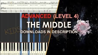 How to play The Middle Zedd difficult LEVEL 4 cover tutorial for kids