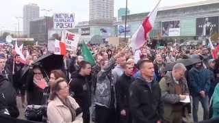 Polacy Przeciw Imigrantom - Cała manifestacja bez cięć Warszawa 12.09.2015 cz.1/7
