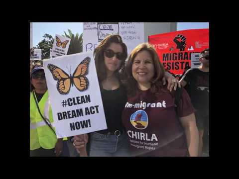 Lauren at the CHIRLA March DreamActNow