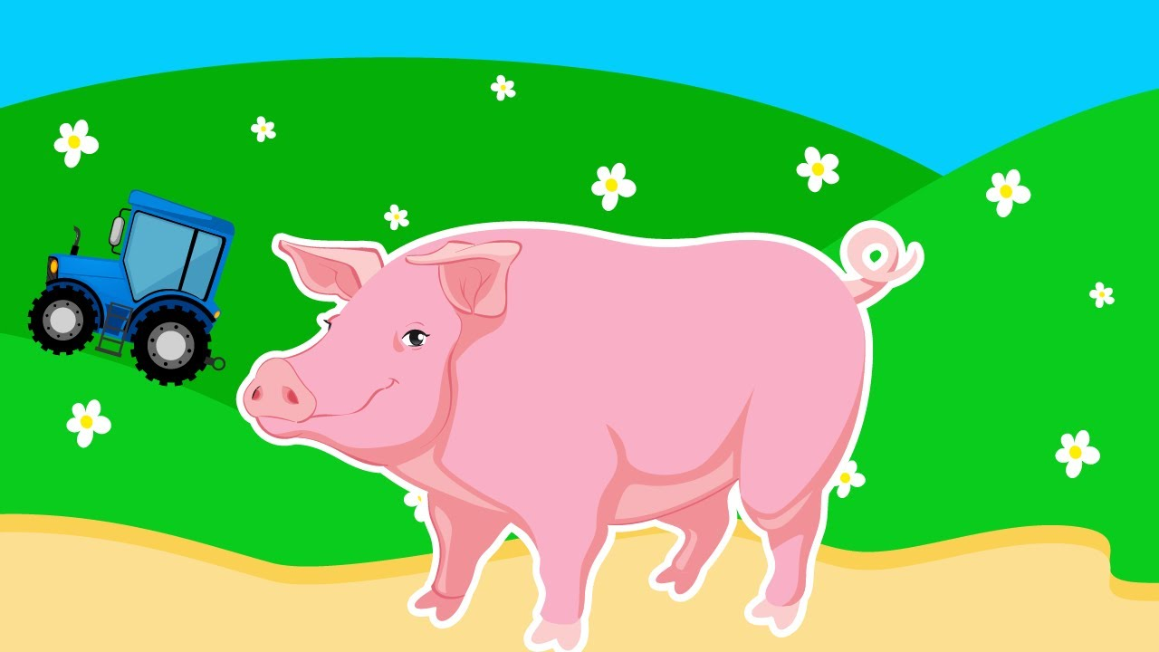 Мультик для Детей про Домашних Животных - Свинью. Развивающий Мультфильм для Малышей. Видео для Дете
