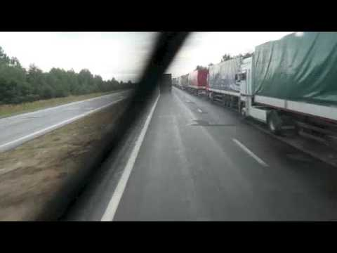 border queue, Ukraine to Poland