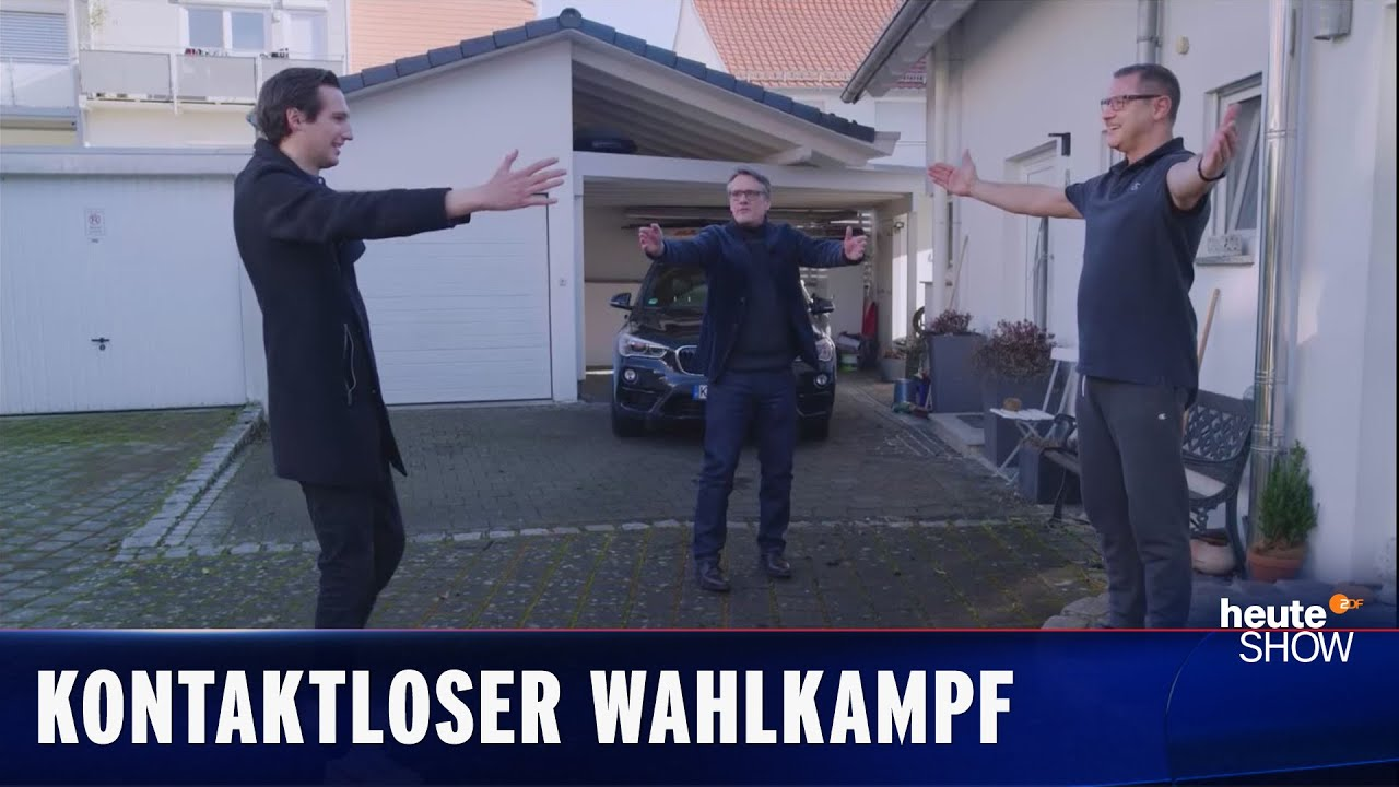 Pandemie-Wahlkampf in Baden-Württemberg (Ralf Kabelka)   heute-show vom 26.02.2021