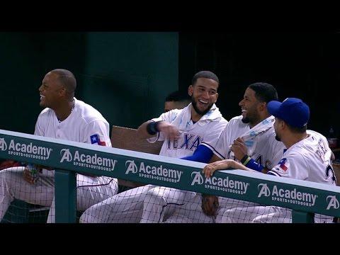 Kipnis makes the Rangers laugh after DP
