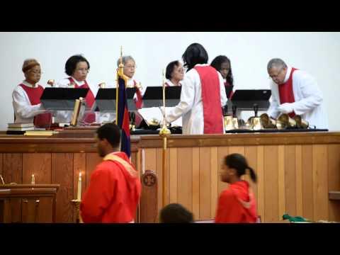 Hymn: Alleluia! Alleluia! - Perfomed by the Bell Choir - StCyprian's Hampton, Va.