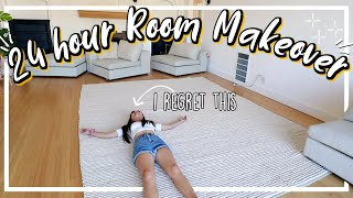 extreme 24 hour room makeover/transformation! +$800 luxury giveaway!