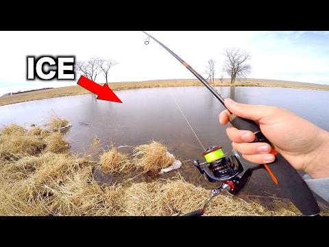 PUNCHING through ICE while Fishing - The Winter Struggle