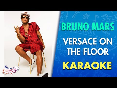 Bruno Mars - Versace On The Floor (Karaoke) | CantoYo