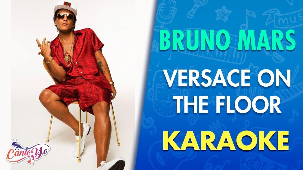 Bruno Mars - Versace On The Floor (Karaoke)   CantoYo