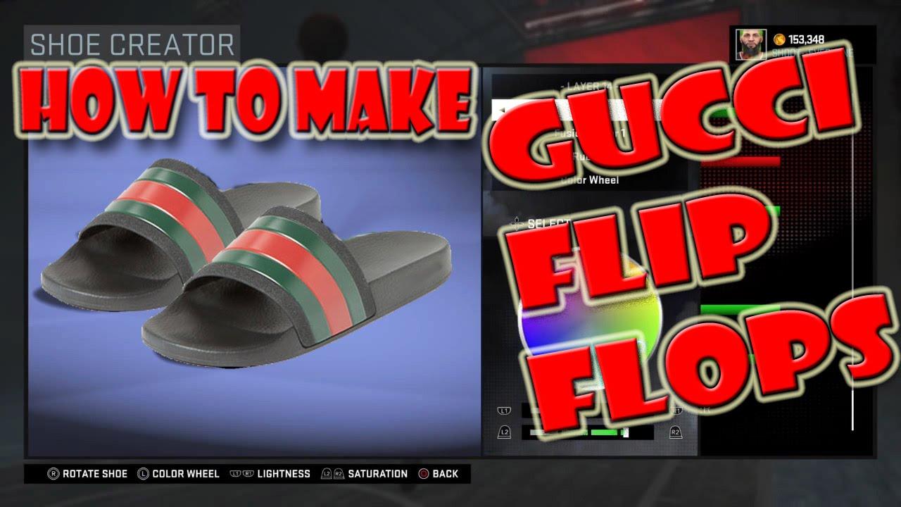 d34e9aa53922 How To Make Gucci Flip Flops - NBA 2K16