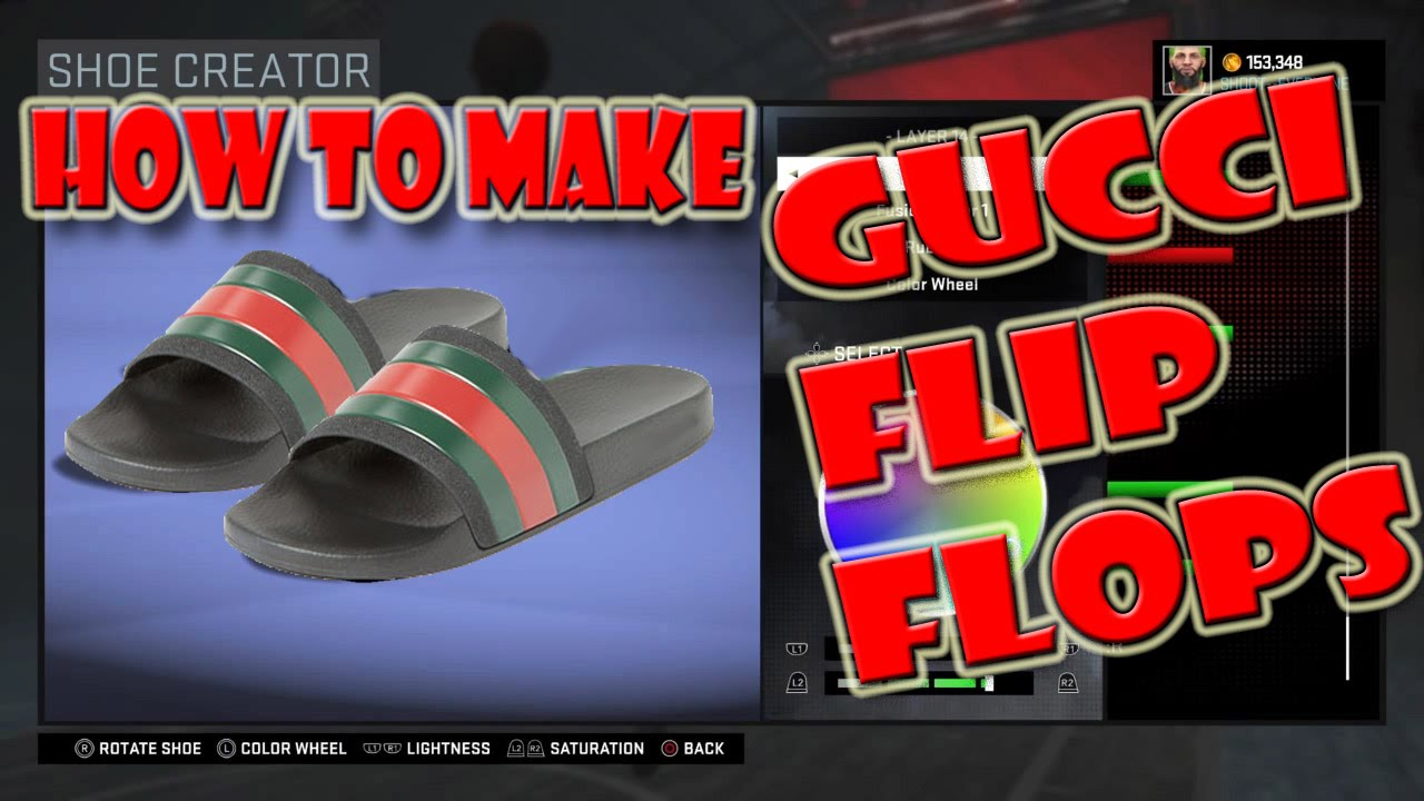 8131de4115cd How To Make Gucci Flip Flops - NBA 2K16
