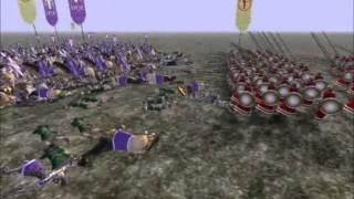 Rome total war battle #001 SPQR vs Greeks