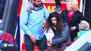 فتاه لبنانيه تنهال بالضرب على رجل من اجل زوجته