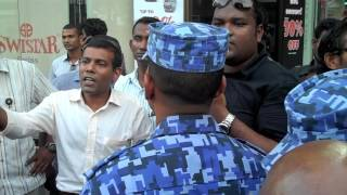 Repeat youtube video President  Nasheed en-route to the Police Station on August 2, 2012