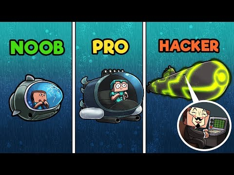 Minecraft - SUBMARINES! (NOOB vs PRO vs HACKER)