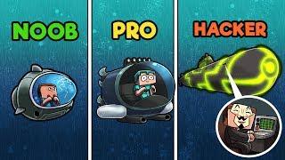 Minecraft - SUBMARINES! (NOOB vs PRO vs HACKER)