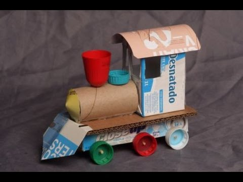 Diy how to make a toy in 1 minute with recycled material for Simple recycled materials