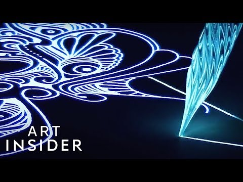 Special Ink Makes Art Glow In The Dark