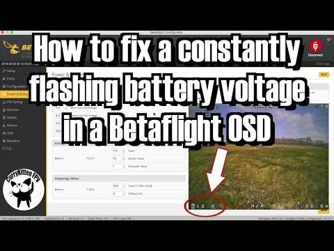FPV Quick tip: Fixing a flashing OSD battery voltage