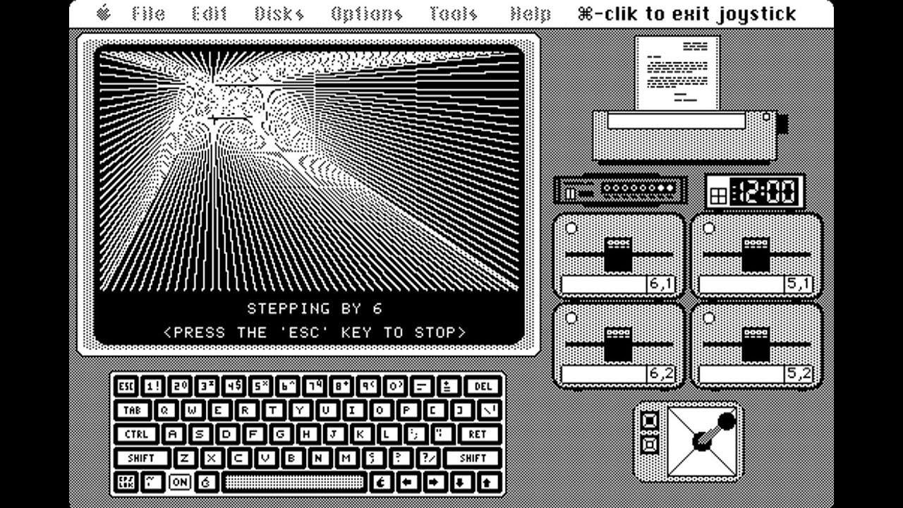 Apple Macintosh - ][ in a Mac - Apple II emulator for B&W Mac