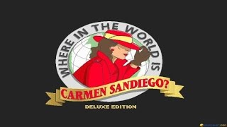 Where in the World is Carmen Sandiego? Deluxe gameplay (PC Game, 1990)