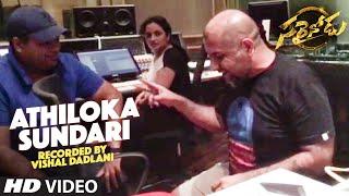 Sarrainodu Songs , Athiloka Sundari Video Song Recording By Vishal Dadlani , Allu Arjun, Rakul Preet