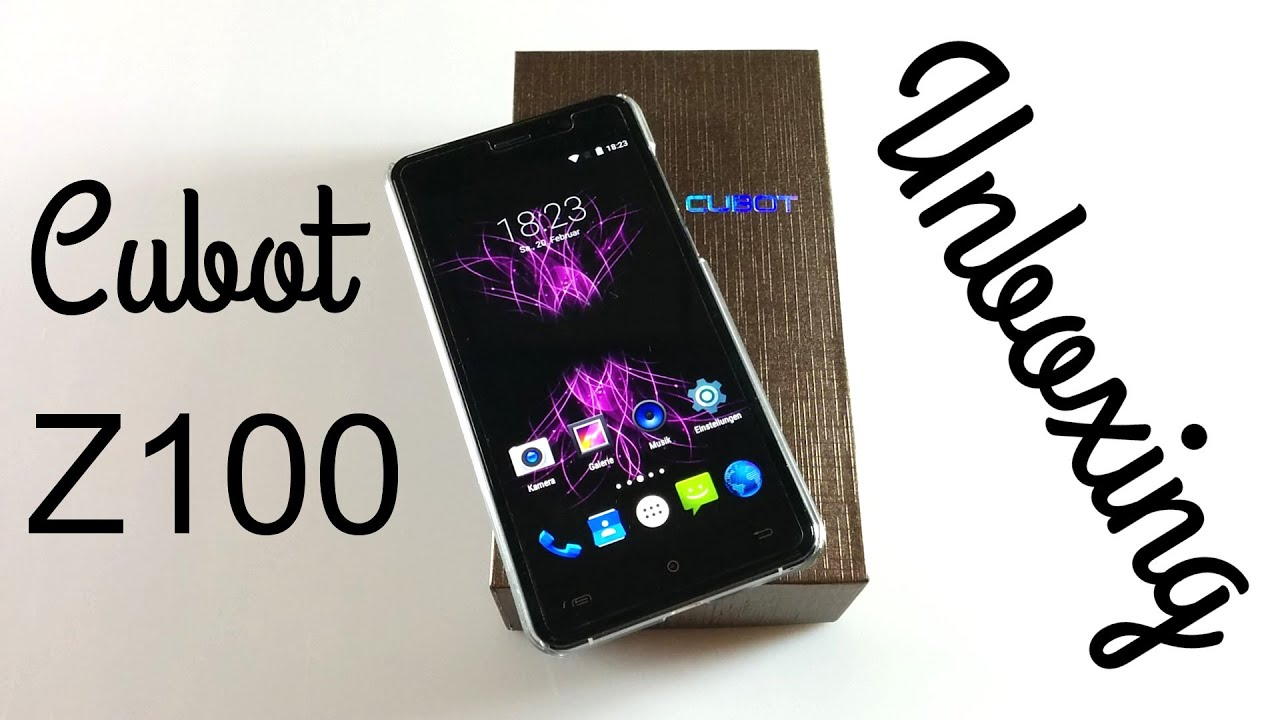 Cubot Z100 Smartphone - Unboxing - YouTube
