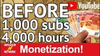 How to monetize YouTube videos without 4000 hours and 1000 subscribers in 5 minutes only||100%