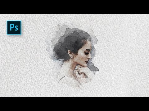 How to Create a Watercolor Painting Effect with Photoshop - Photoshop Tutorial