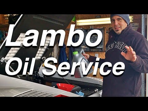 Here's How To Change Oil on a Lamborghini Gallardo