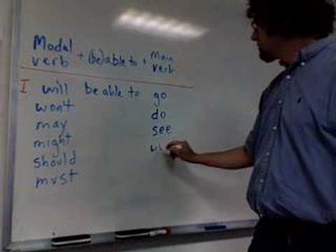 modal verb + be able to + main verb