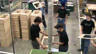 Video of Moffat Country High School in Craig, Colorado wood shop program. Teacher Craig Conrad teaches his students mass ...