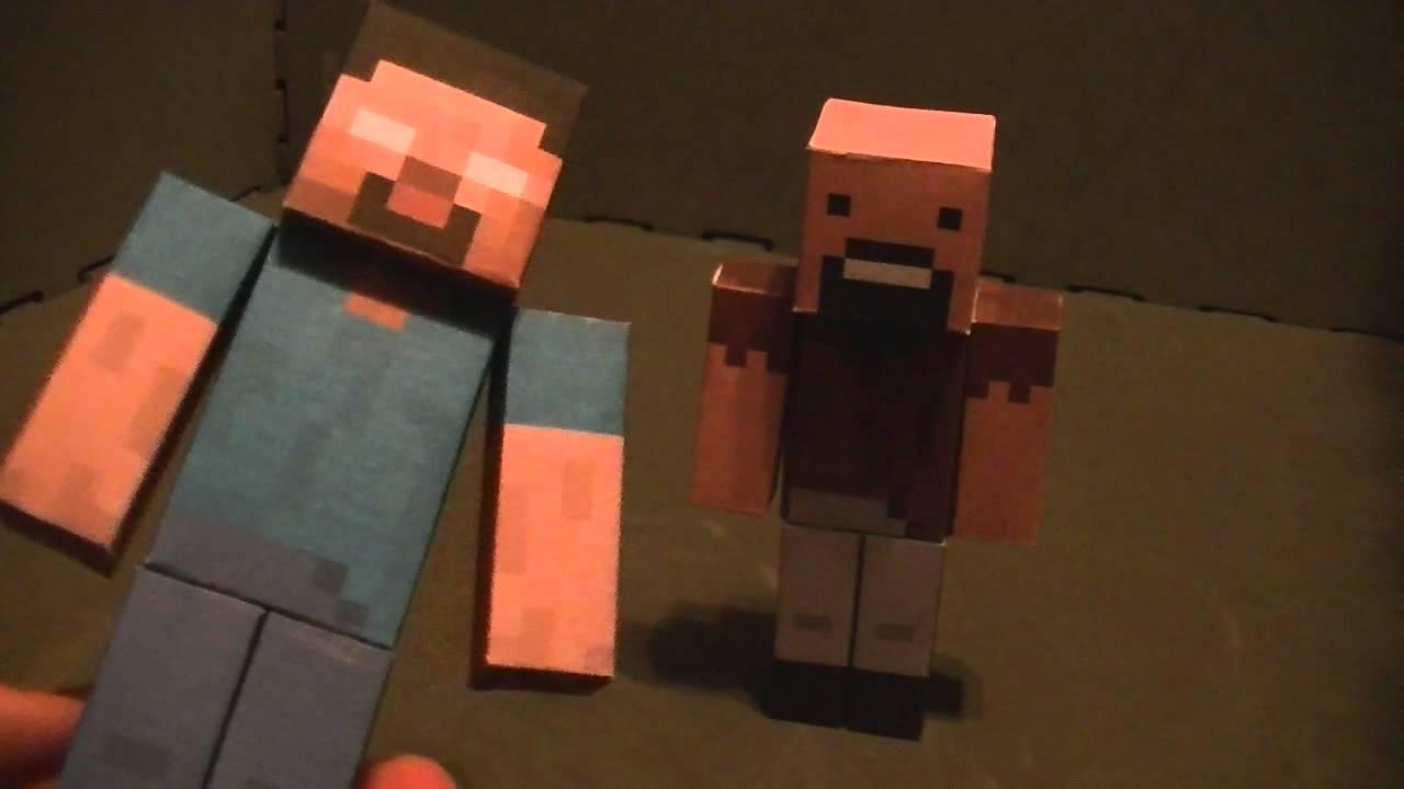 MInecraft Papercraft #3 Notch and Herobrine - YouTube