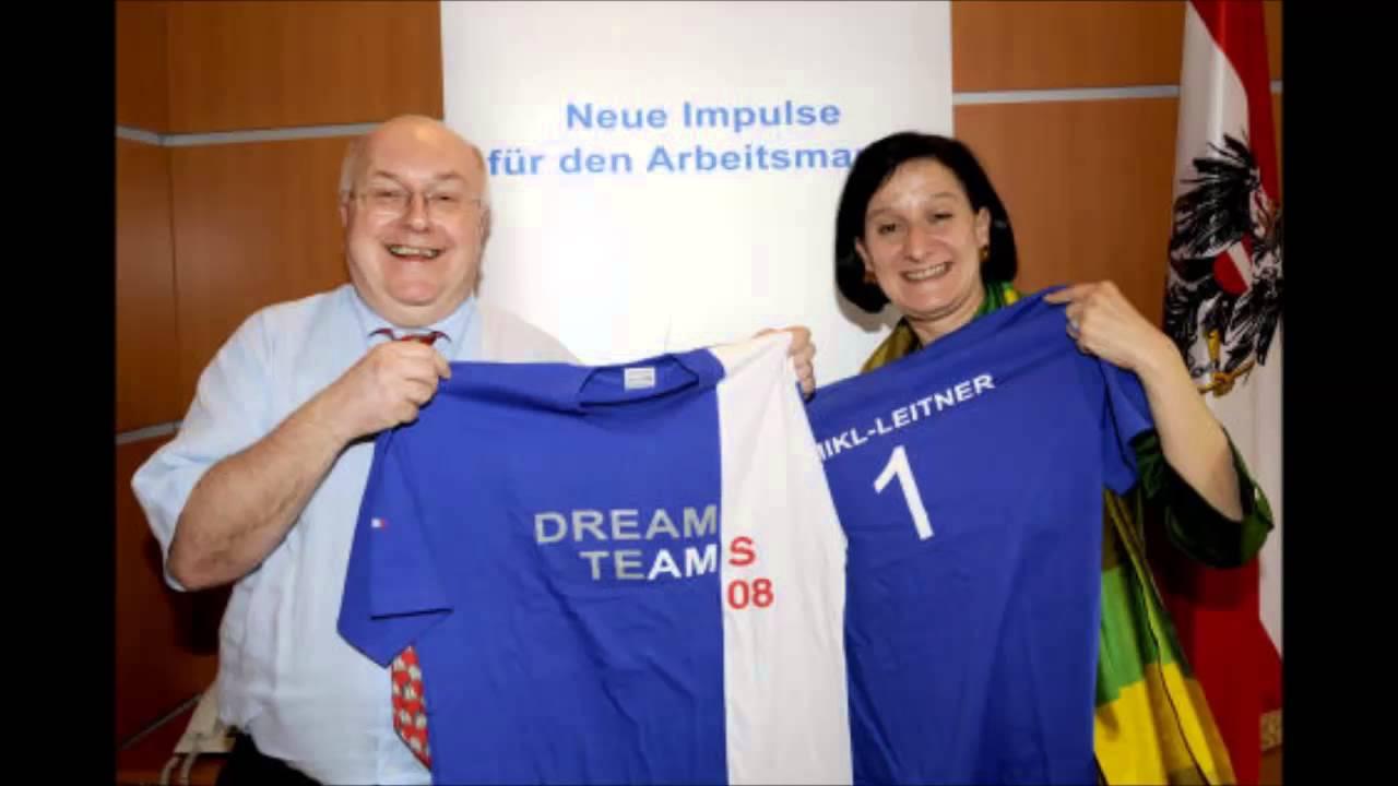 AMS Niederösterreich-Chef Karl Fakler zeigt den Querulanten wo der ...