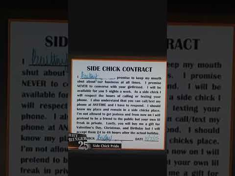 the side chick contract youtube
