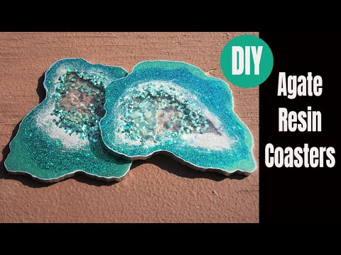Resin Geode Emerald Coasters DIY Tutorial