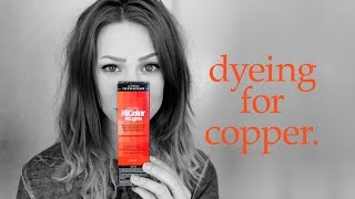Dyeing for L'Oreal HiColor HiLights in COPPER