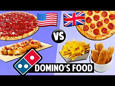 AMERICAN vs. BRITISH Domino's Food