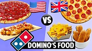AMERICAN vs. BRITISH Domino's Food