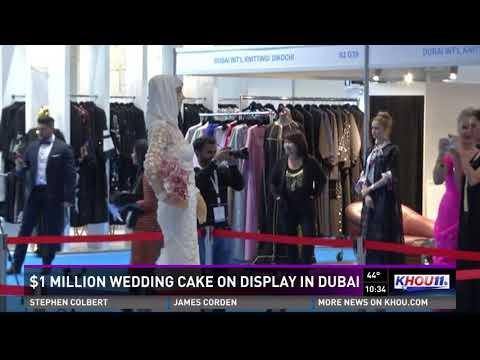 $1 million wedding cake on display in Dubai