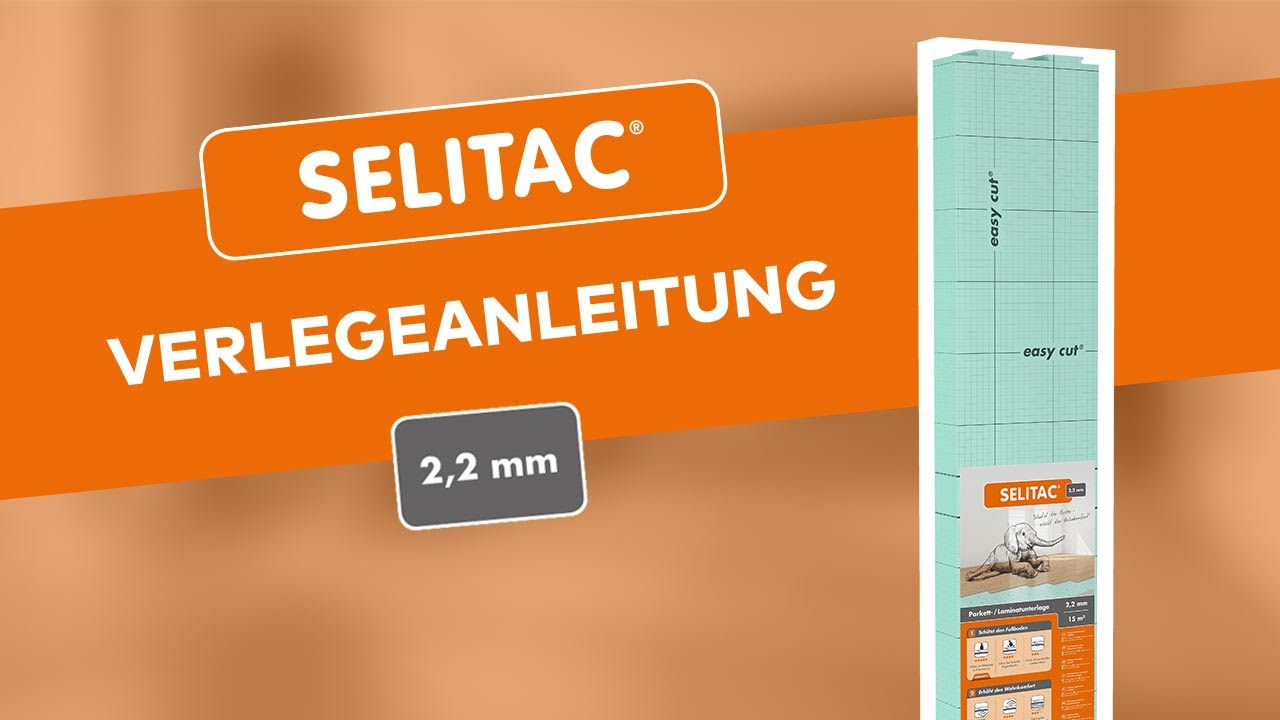 verlegeanleitung der selitac 2,2 mm - youtube