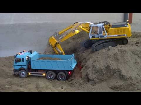 Awesome Rc Trucks and Machines in a open air Mine!! 100 ACTION and FUN