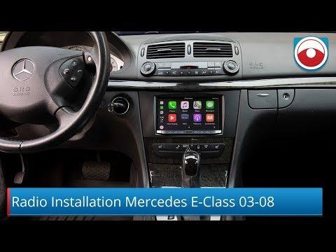 Mercedes Benz E-Class 2003-2008 W211 Radio Installation