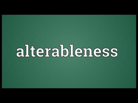 Header of alterableness