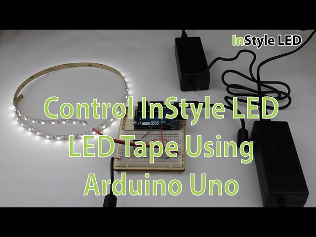 Controlling InStyle LED LED Tape Using Arduino Uno