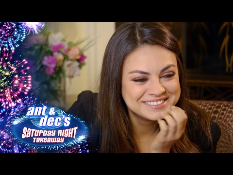 Little Ant & Dec Interview Mila Kunis - Saturday Night Takeaway