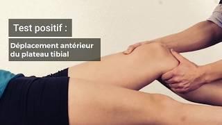 Test de Lachman [Genou / Ligament croisé antérieur]