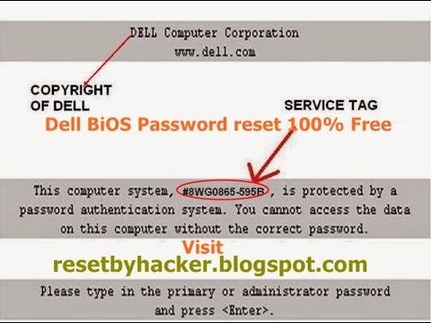 Dell Bios Password Reset 100% Free